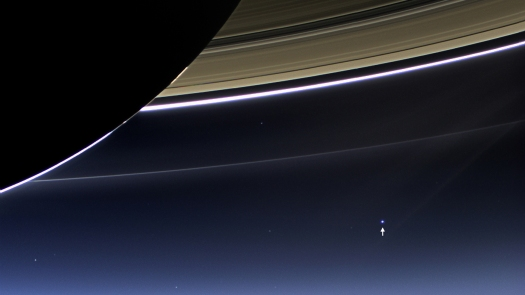 Earth, from Cassini