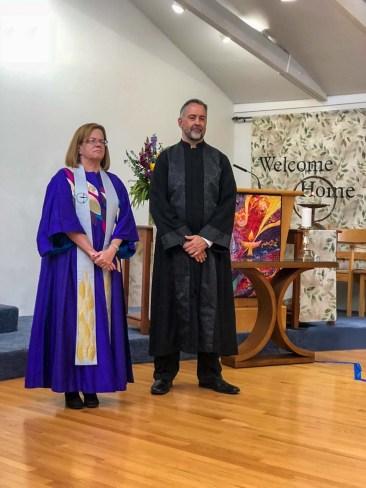 Rev. Debra and Scot at UUCR
